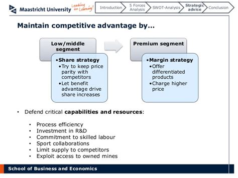 Competitive Advantage Mba by Competitive Dynamics In The Industry The Swatch