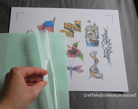 tattoo transfer paper directions date night idea and discount on silhouette sd