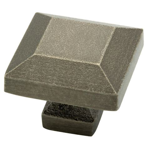 tumbled pewter cabinet pulls liberty iron craft 1 1 4 in tumbled pewter square cabinet