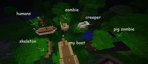 minecraft boat survival jungle boat wars survival adventure map minecraft project