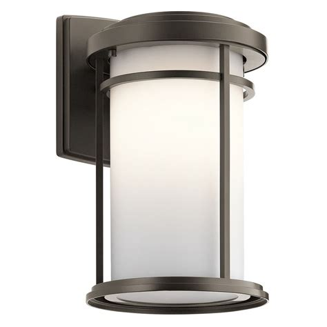 Kichler Led Outdoor Lighting Kichler Lighting Toman Olde Bronze Led Outdoor Wall Light 49687ozl16 Destination Lighting