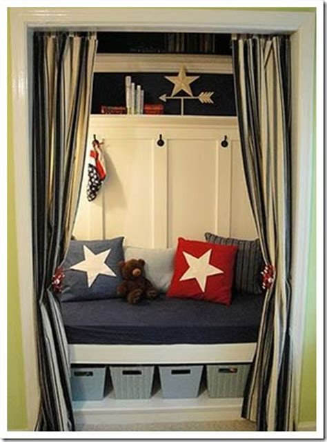 Doorless Closet Ideas by Nooks Closet And Curtains On