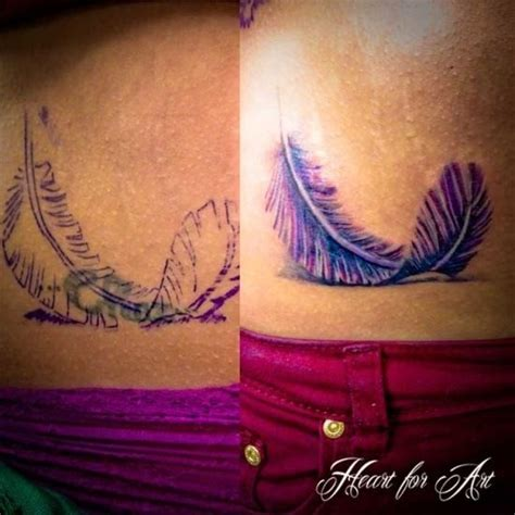 feather cover up tattoo purple feather cover up tattoos egodesigns the color