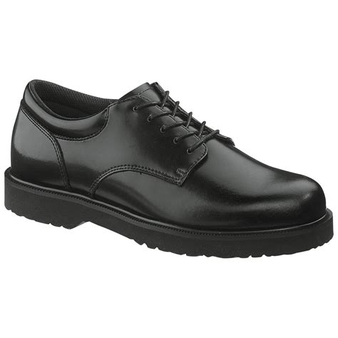 black oxford work shoes s bates 174 high shine duty oxford shoes black 213426