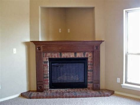Corner Brick Fireplace by Pin By Abby Lewis On Decorating Ideas