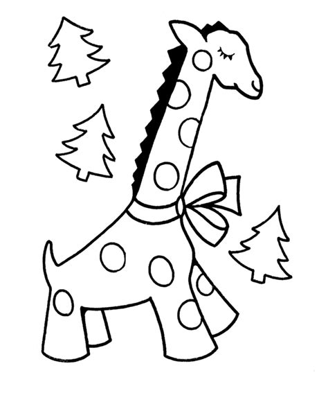Christmas Giraffe Coloring Pages | learning years christmas coloring pages giraffe with