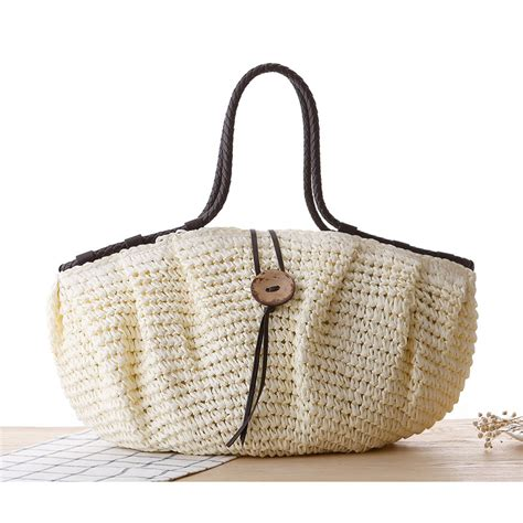 Handmade Straw Bags - highreal new bag for summer big straw bags handmade