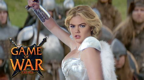 kate upton features in trailer for game of war fire age game of war live action trailer quot reputation quot ft kate