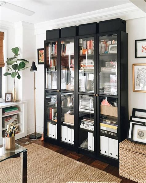 bookcase with glass doors ikea 17 best ideas about ikea billy bookcase on