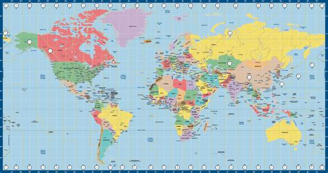 on a world map world map us time zone miller map creative