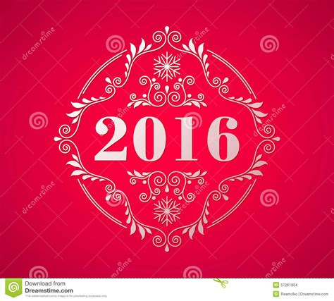 new year symbols 2016 happy new year 2016 colorful symbol stock vector image