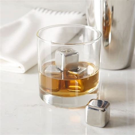 essential barware essential barware stainless steel ice cubes set of 6