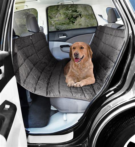 pet car back seat protector hammock gray car suv rear seat pet cat protector cover hammock