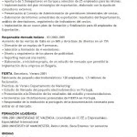 modello di cv classico esempi di curricula in spagnolo modello curriculum
