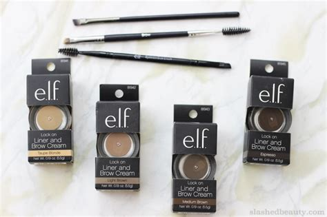 elf eye brow kit for black hair review e l f lock on liner brow cream slashed beauty