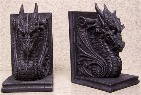 dragon bookends bookends medieval gothic celtic dragon heads pair book