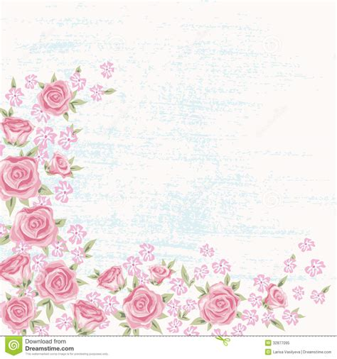 Vector Backgrounds With Roses For Invitations background 5 stock vector illustration of frame 32877095
