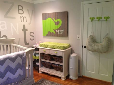 green and gray room kellan s gray and lime green elephant nursery project
