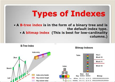 What Is A Type A L by Types Of Indexes A B Tree Index A Bitmap Index