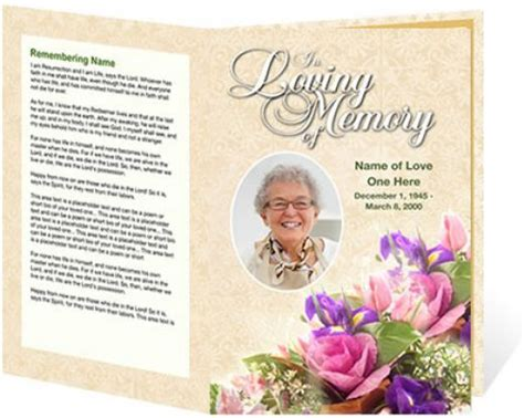 30 Best Images About Funerals On Pinterest Program Template Funeral Order Of Service And Funeral Bulletin Template
