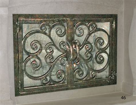 Iron Fireplace Doors by Forged Iron Fireplace Doors Fd046 From Mantel Depot