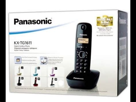 Panasonic Kx Tg1611 It Cyan panasonic kx tg1611 dect phone unboxing