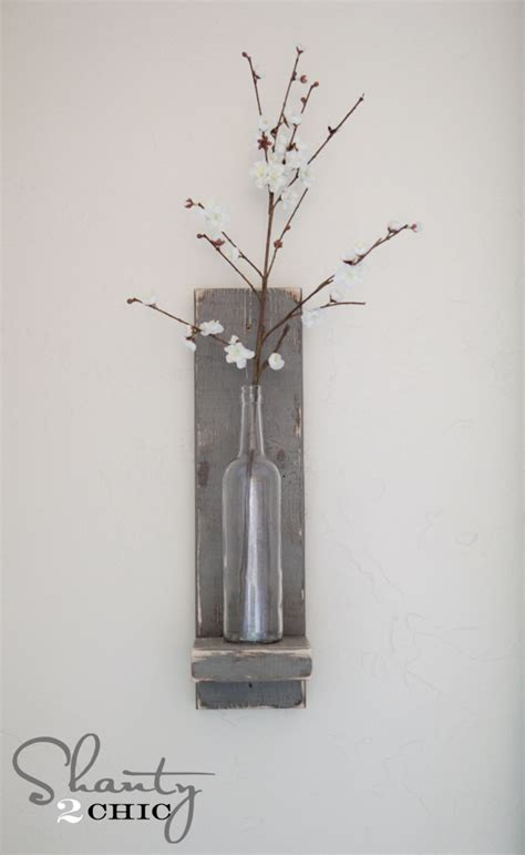 Hobby Lobby Home Decor Ideas by Diy Wine Bottle Wall Sconce Shanty 2 Chic