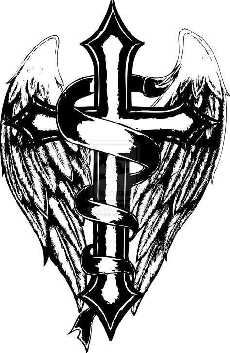 cross and wings by zachalaska on deviantart
