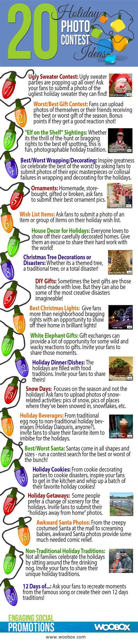 Photography Giveaway Ideas On Facebook - infographic 20 facebook holiday photo contests allfacebook holiday email