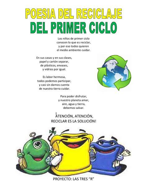 poesias cortas del medio ambiente poesia reciclaje reciclada