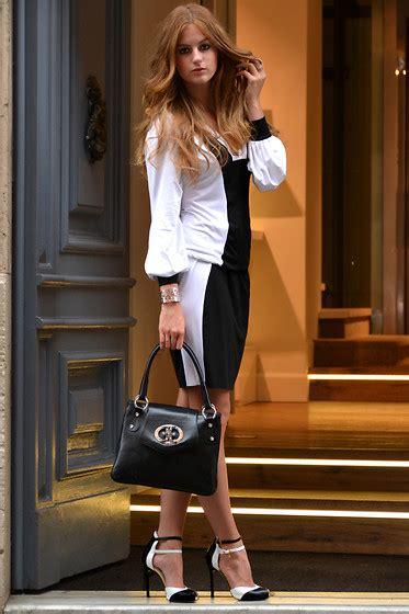 Rosekasm Dress lara roskam fabi contrast dress classic black white lookbook