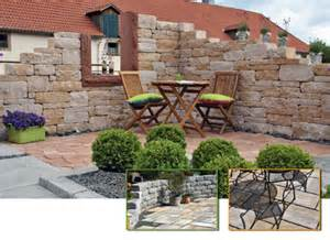 Loungemobel Garten Terrasse Steinmauer Garten Mediterran Godsriddle Info