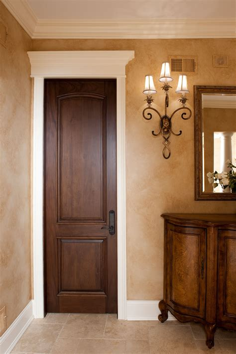 Traditional Interior Doors Interior Door Custom Single Solid Wood With Walnut Finish Classic Model Dbi 701a