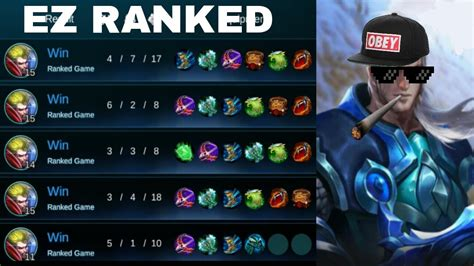 mobile legend rank mobile legends tigreal ranked item build