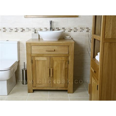 solid oak vanity units for bathrooms atla solid light oak bathroom vanity unit click oak