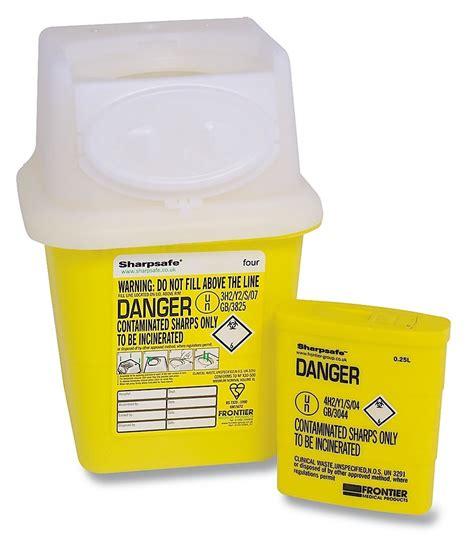 Safety Box Biohazard Sharps Box High Peak Aid