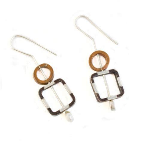 striped metal earrings m a d e jewelry