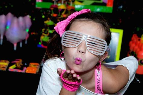 80s dance party ideas neon 80 s skate themed birthday party via kara s party