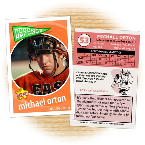 custom football card template custom football cards retro 60 series cards