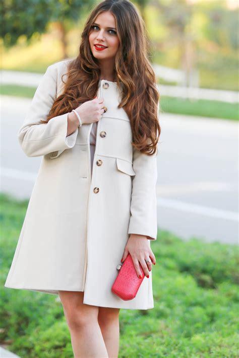 Dress Irina Baby Pink ootd blush pink coat fuchsia accents bondgirlglam