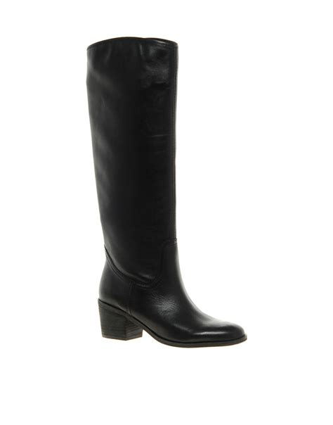 asos sam edelman loren heeled boots in black lyst