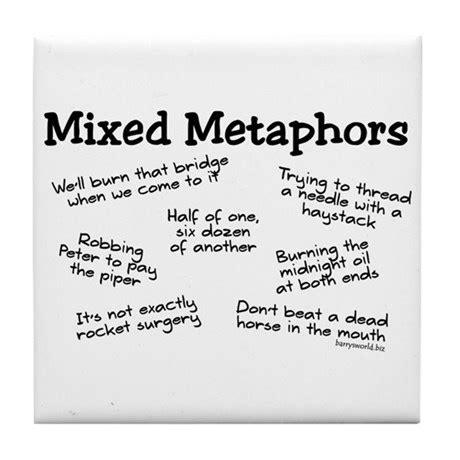 mixed metaphors tile coaster  barrysworld