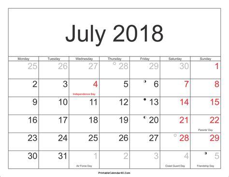 printable planner 2018 pdf july 2018 calendar pdf printable calendar weekly