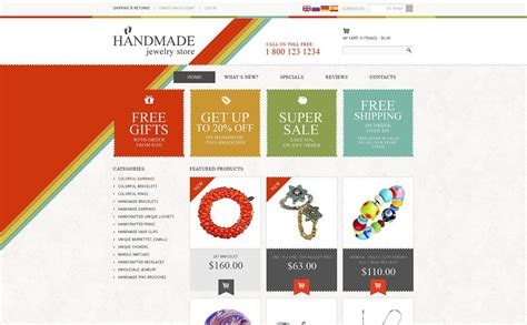 handmade jewelry store oscommerce template 51884