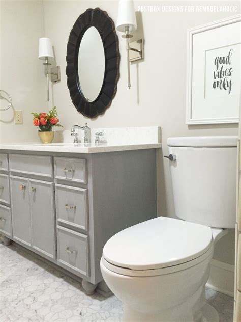 chalk paint bathroom vanity remodelaholic chalk paint 174 bathroom vanity makeover