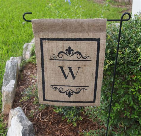 Monogram Garden Flags by Unavailable Listing On Etsy