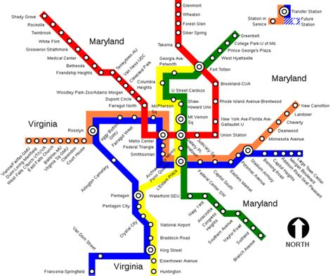 washington dc map subway dc metro maps