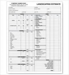 6 landscaping estimate templates free word excel pdf
