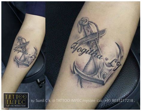 anchor tattoos with names anchor