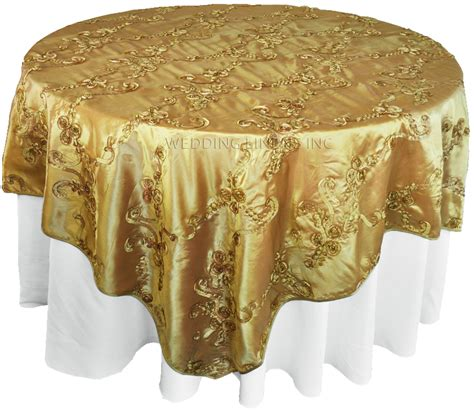 gold table overlay gold ribbon taffeta table overlays toppers sale
